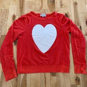 Wildfox heart sweatshirt